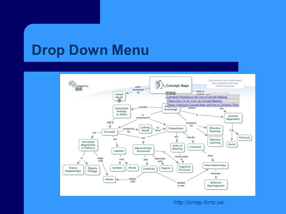 http://cmap.ihmc.us/ Drop Down Menu