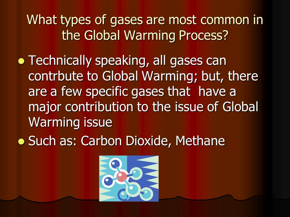 What types of gases are most common in the Global Warming Process.