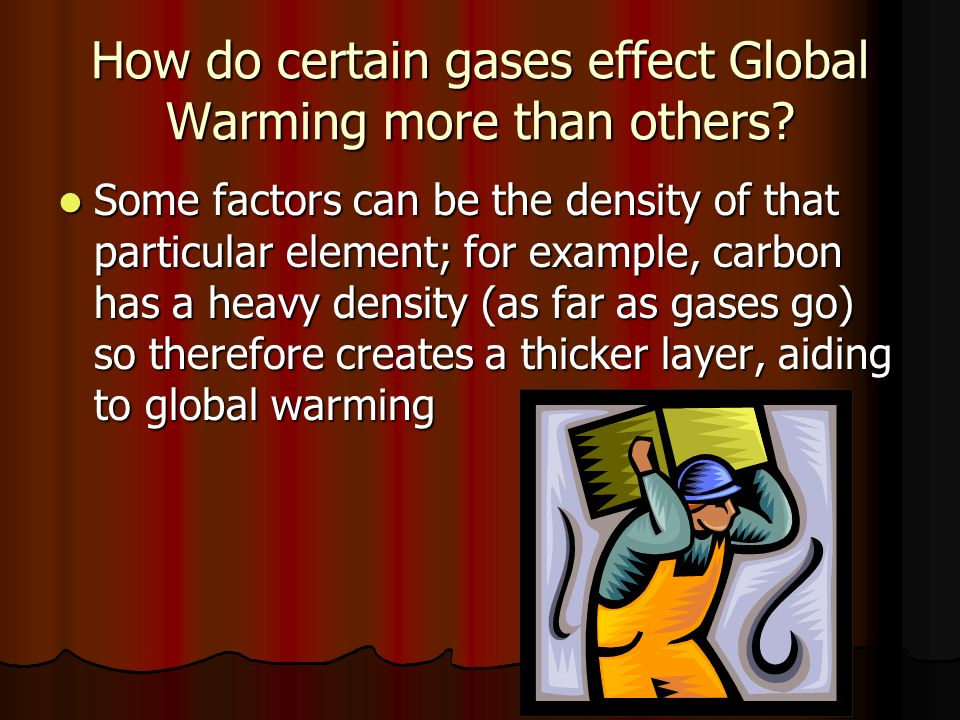 How do certain gases effect Global Warming more than others.