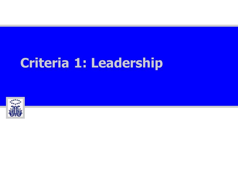 Criteria 1: Leadership