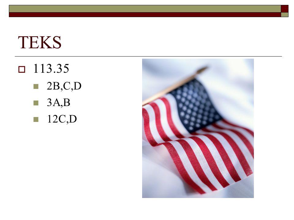 TEKS 113.35 2B,C,D 3A,B 12C,D