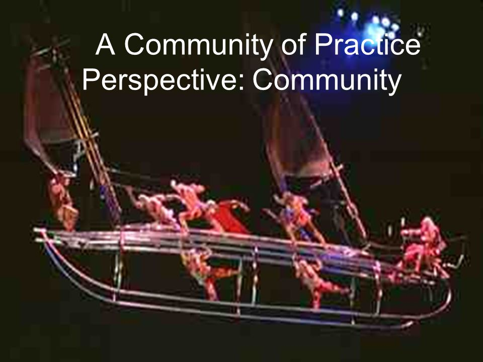 A Community of Practice Perspective: Community