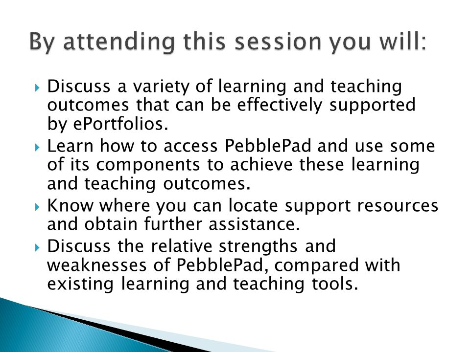 Discuss a variety of learning and teaching outcomes that can be effectively supported by ePortfolios.