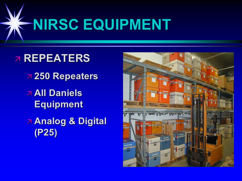 NIRSC EQUIPMENT REPEATERS REPEATERS 250 Repeaters 250 Repeaters All Daniels Equipment All Daniels Equipment Analog & Digital (P25) Analog & Digital (P25)