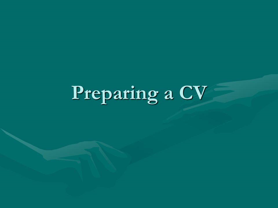 Preparing a CV