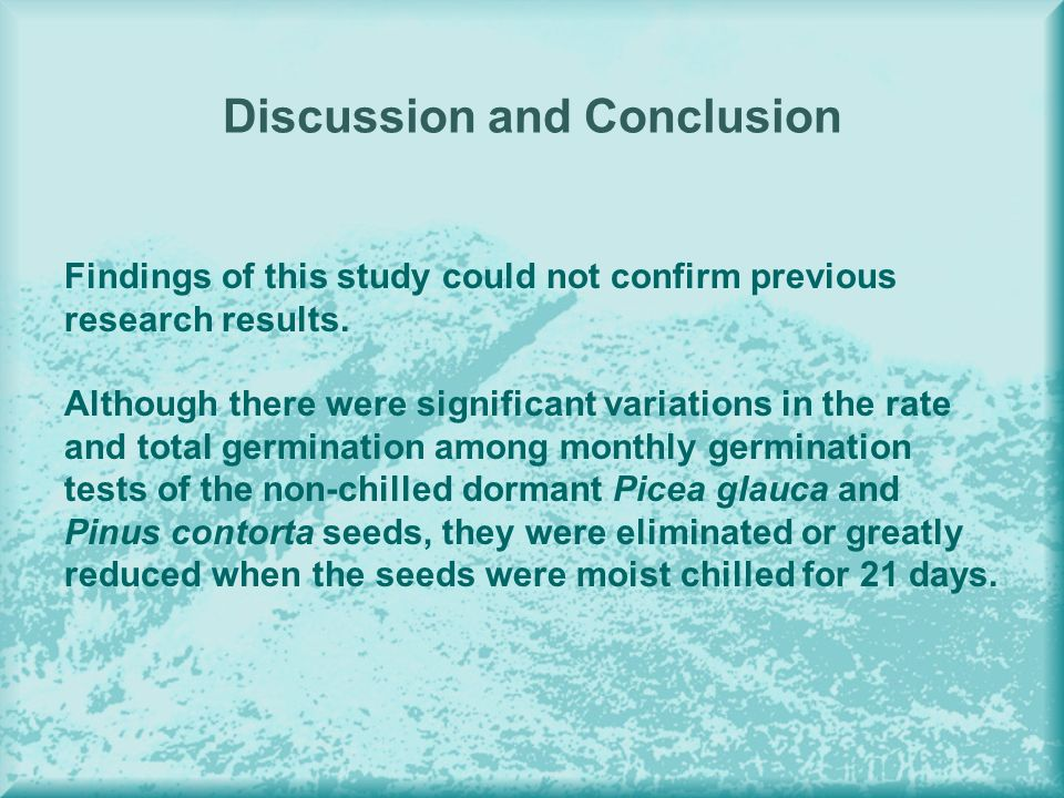 Discussion and Conclusion Findings of this study could not confirm previous research results.