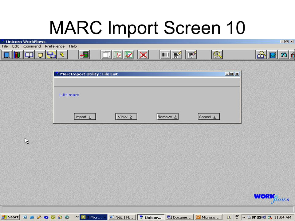 MARC Import Screen 10