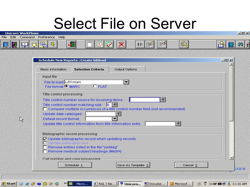 Select File on Server