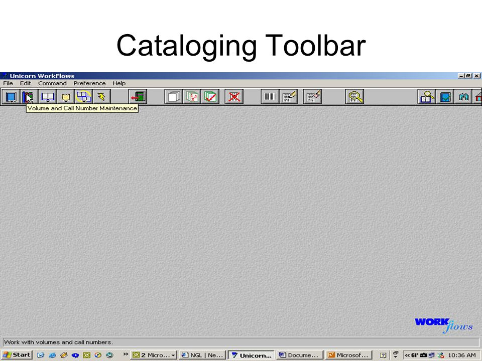Cataloging Toolbar