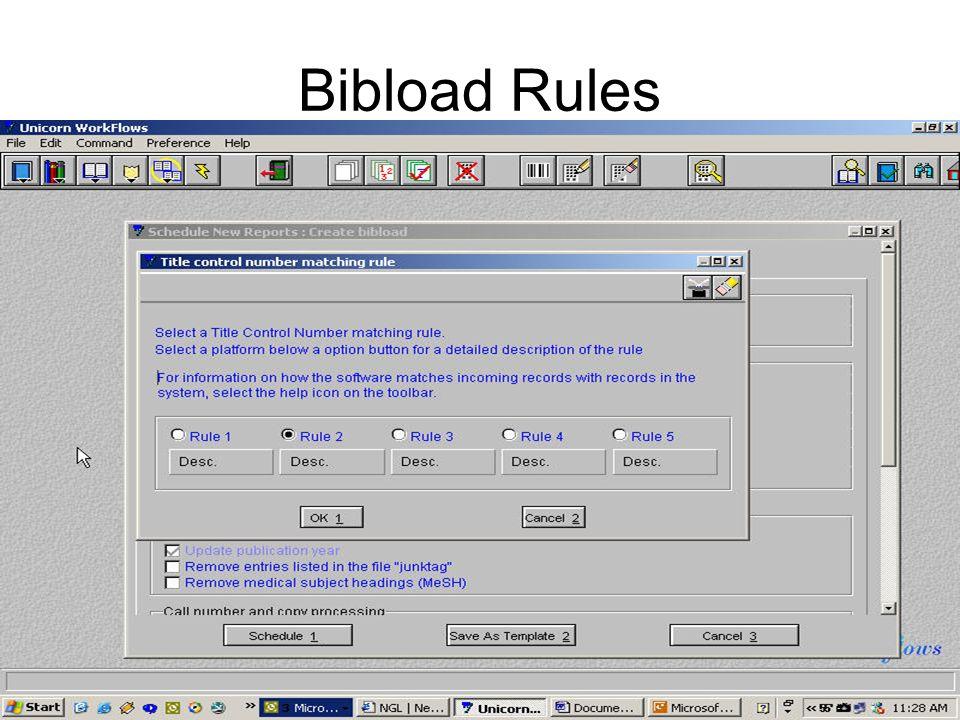 Bibload Rules