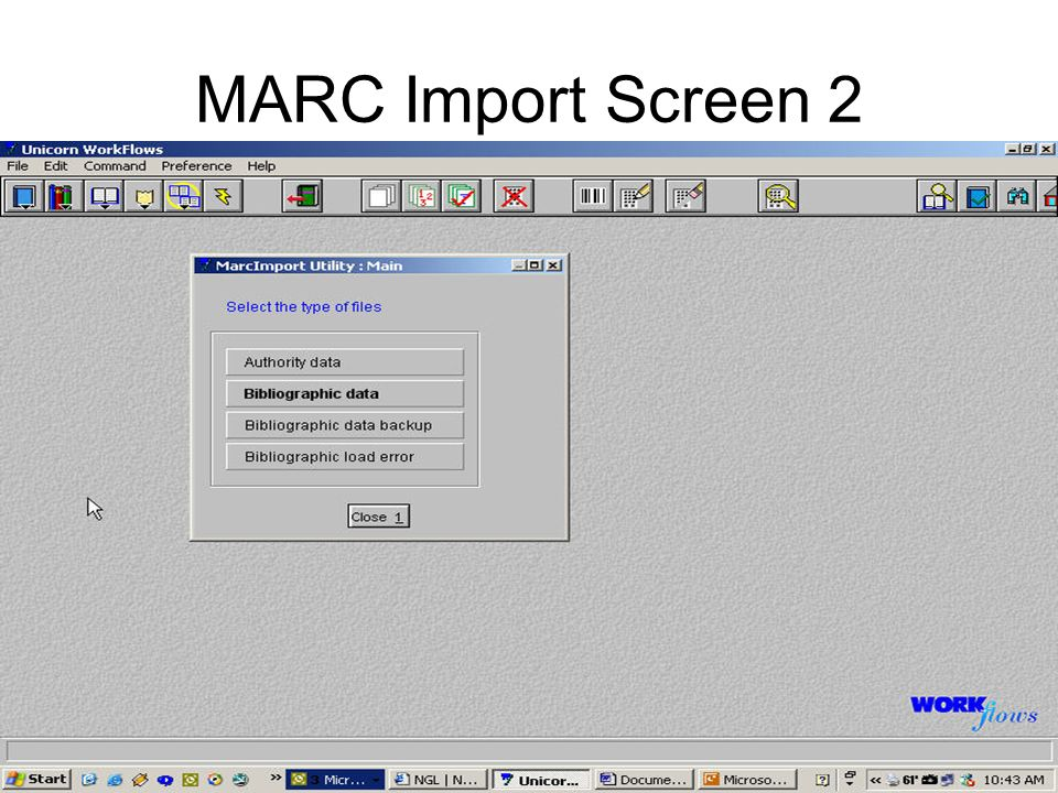 MARC Import Screen 2
