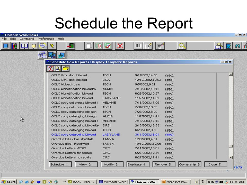 Schedule the Report
