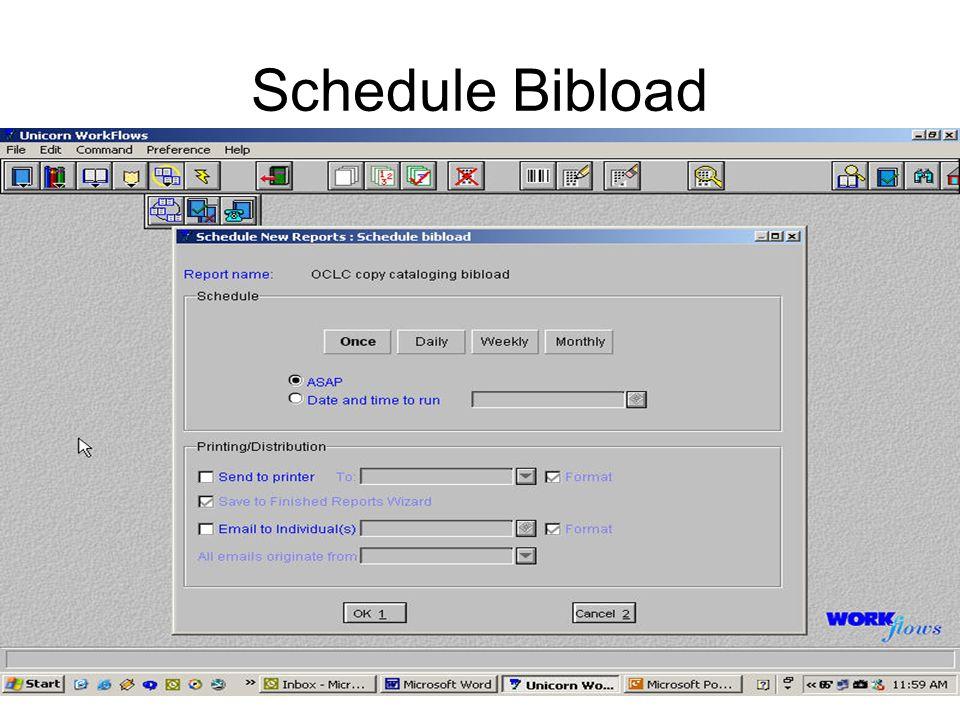 Schedule Bibload