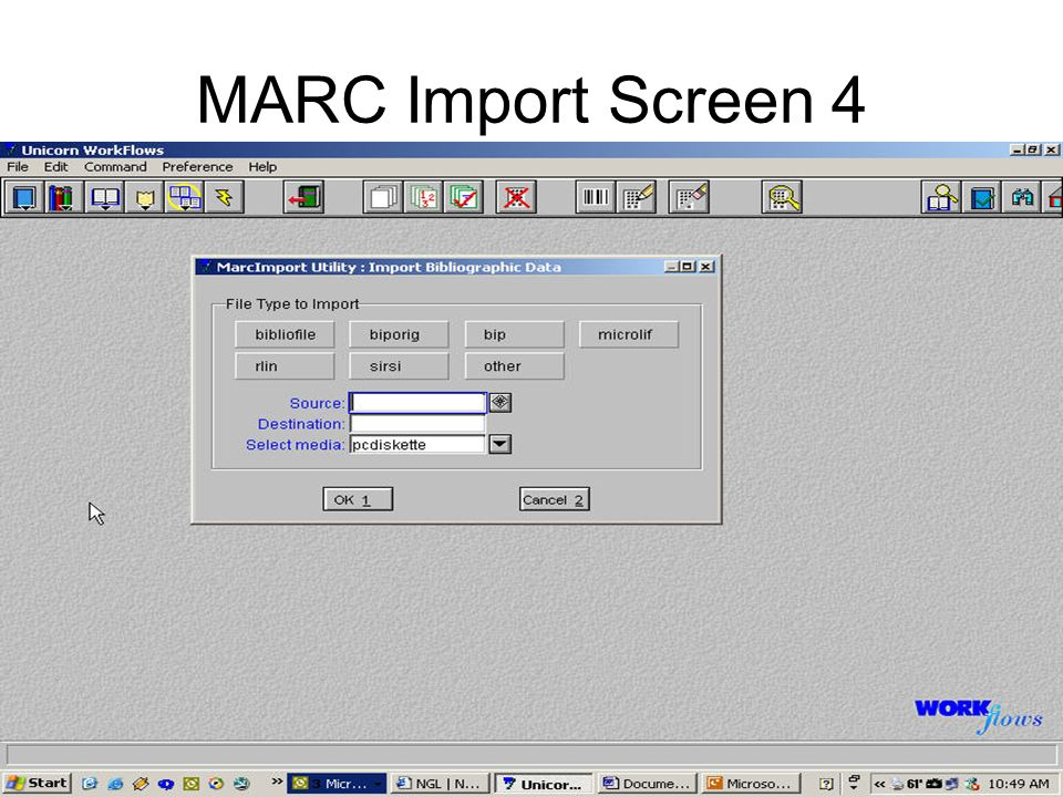 MARC Import Screen 4