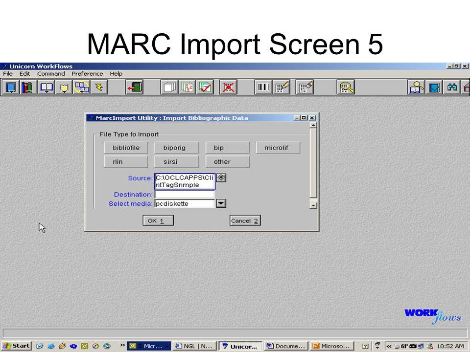 MARC Import Screen 5