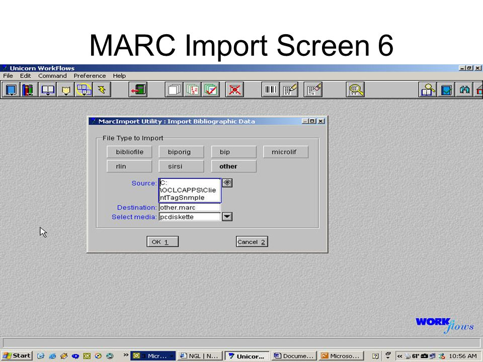 MARC Import Screen 6