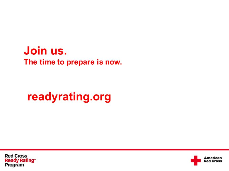 Join us. The time to prepare is now. readyrating.org