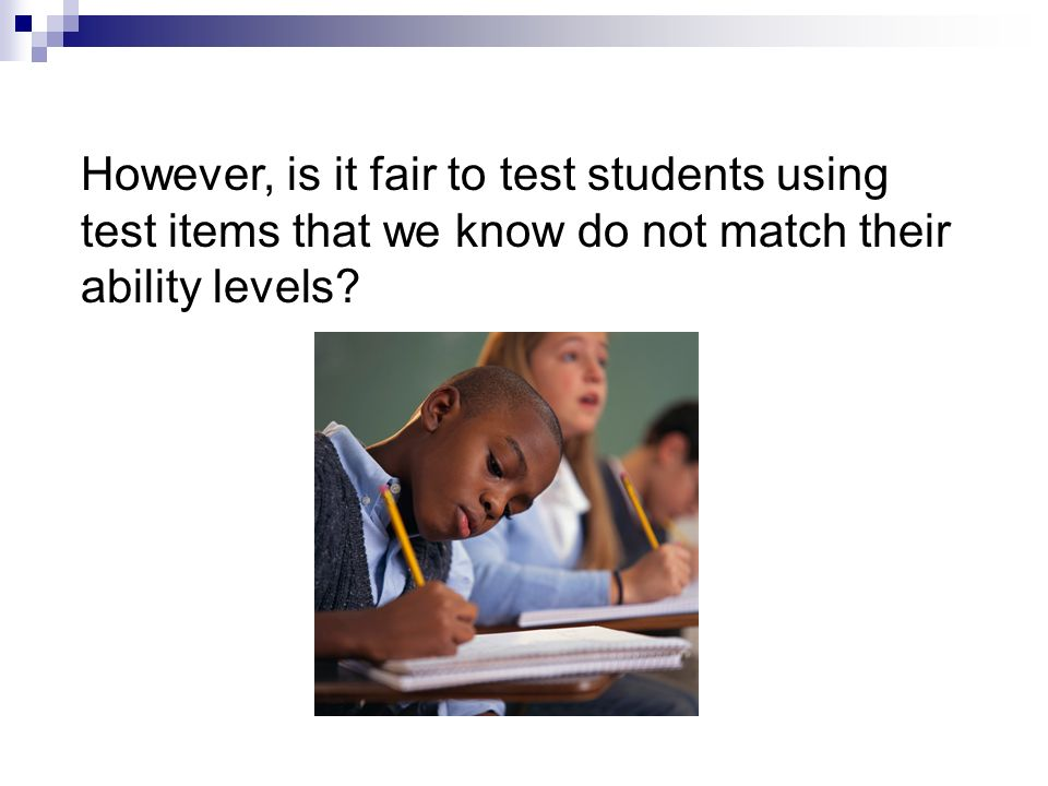 Special Needs Bias According to Popham, a test is biased if it unfairly penalizes a group of students so that their performance is less than that of a