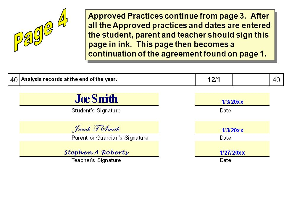 Approved Practices continue from page 3.