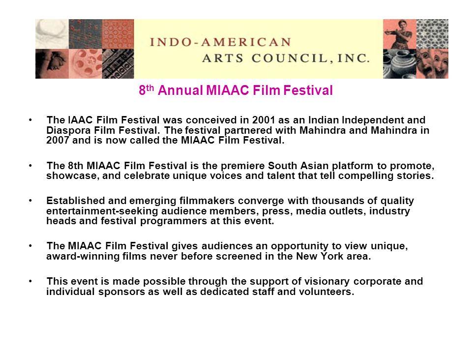 For more information, please contact: Aroon Shivdasani, Executive Director (aroon@iaac.us) The IAAC Office (admin@iaac.us) Indo-American Arts Council 146 West 29th St, #7R-3, New York, NY 10001 Ph: (212) 594-3685 Fax: (212) 594-8476 Web: www.iaac.us