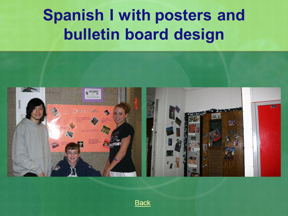 Spanish I with posters and bulletin board design Back