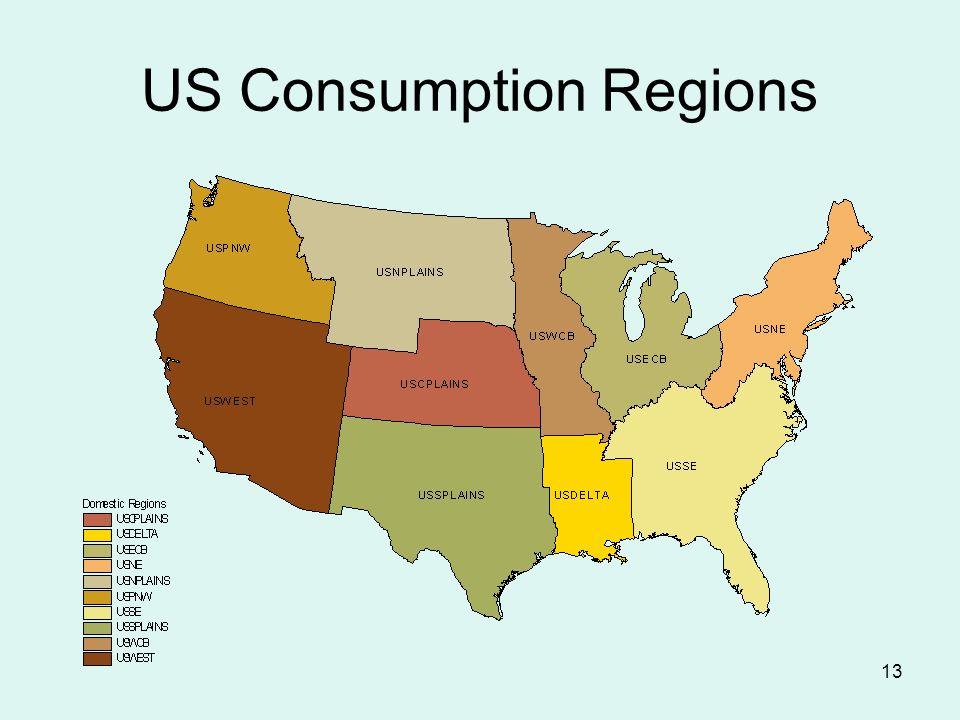 13 US Consumption Regions