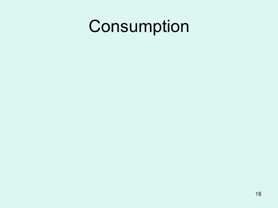 16 Consumption