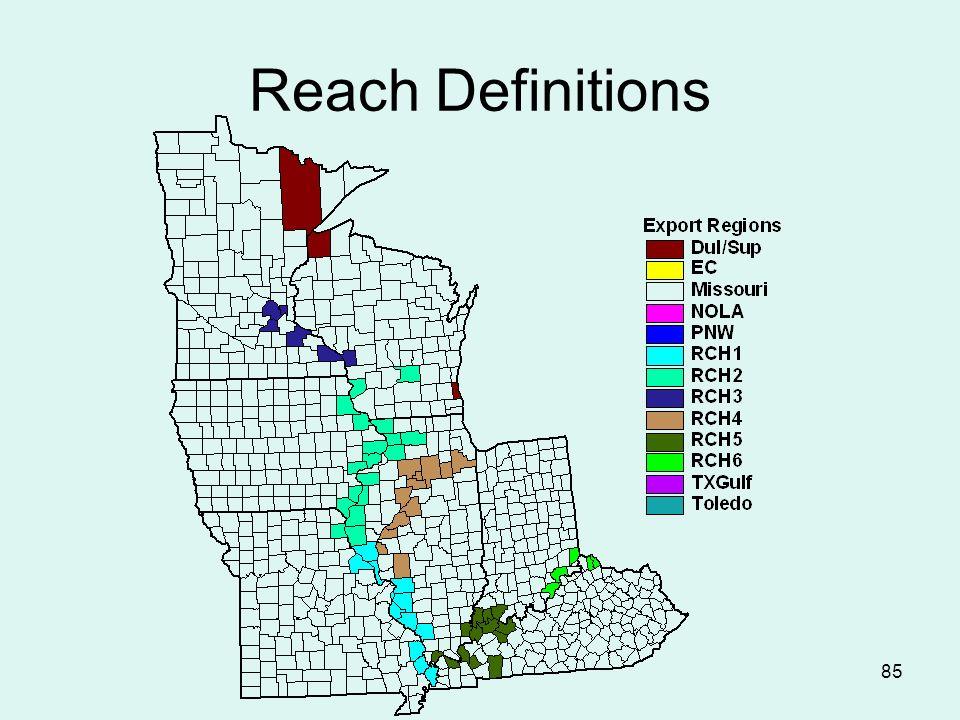 85 Reach Definitions
