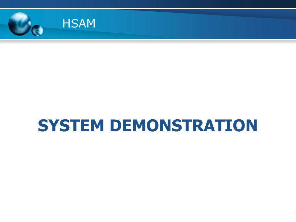 HSAM SYSTEM DEMONSTRATION