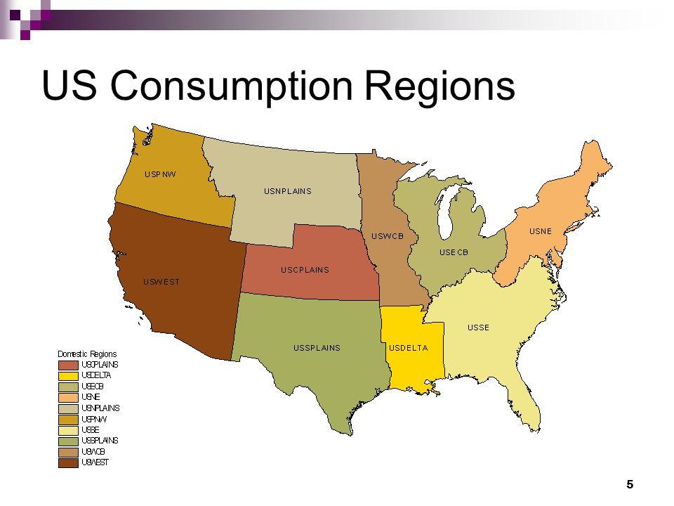 5 US Consumption Regions