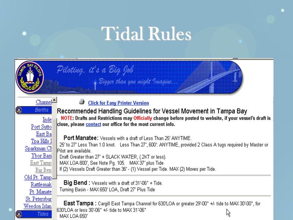 Tidal Rules