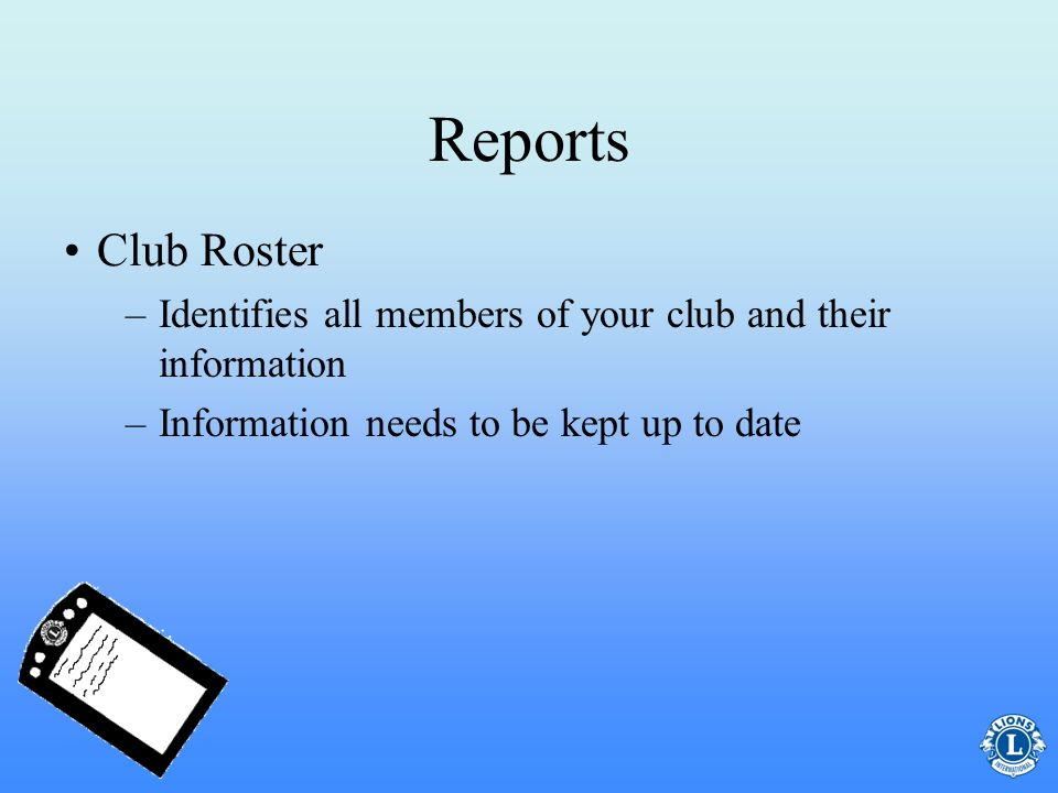 Reports –This form is used to report the names and addresses of your newly elected club officers to International Headquarters Submit to international headquarters immediately following your club elections in April The final deadline is May 15 Club Officer Reporting Form (PU-101)Club Officer Reporting Form