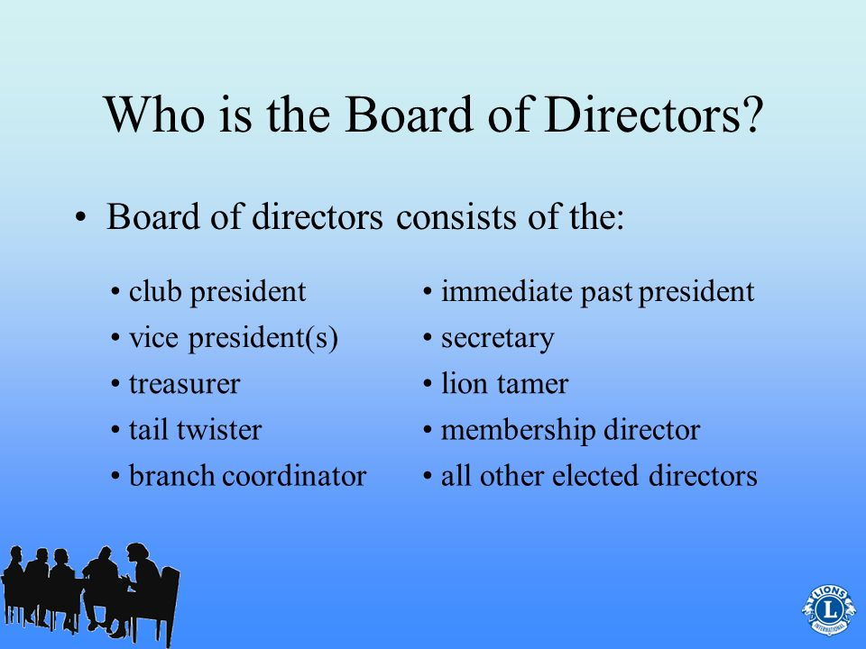 Role of the Club Secretary? The club secretary is also a member of the clubs board of directors.