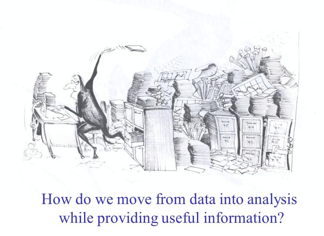 How do we move from data into analysis while providing useful information