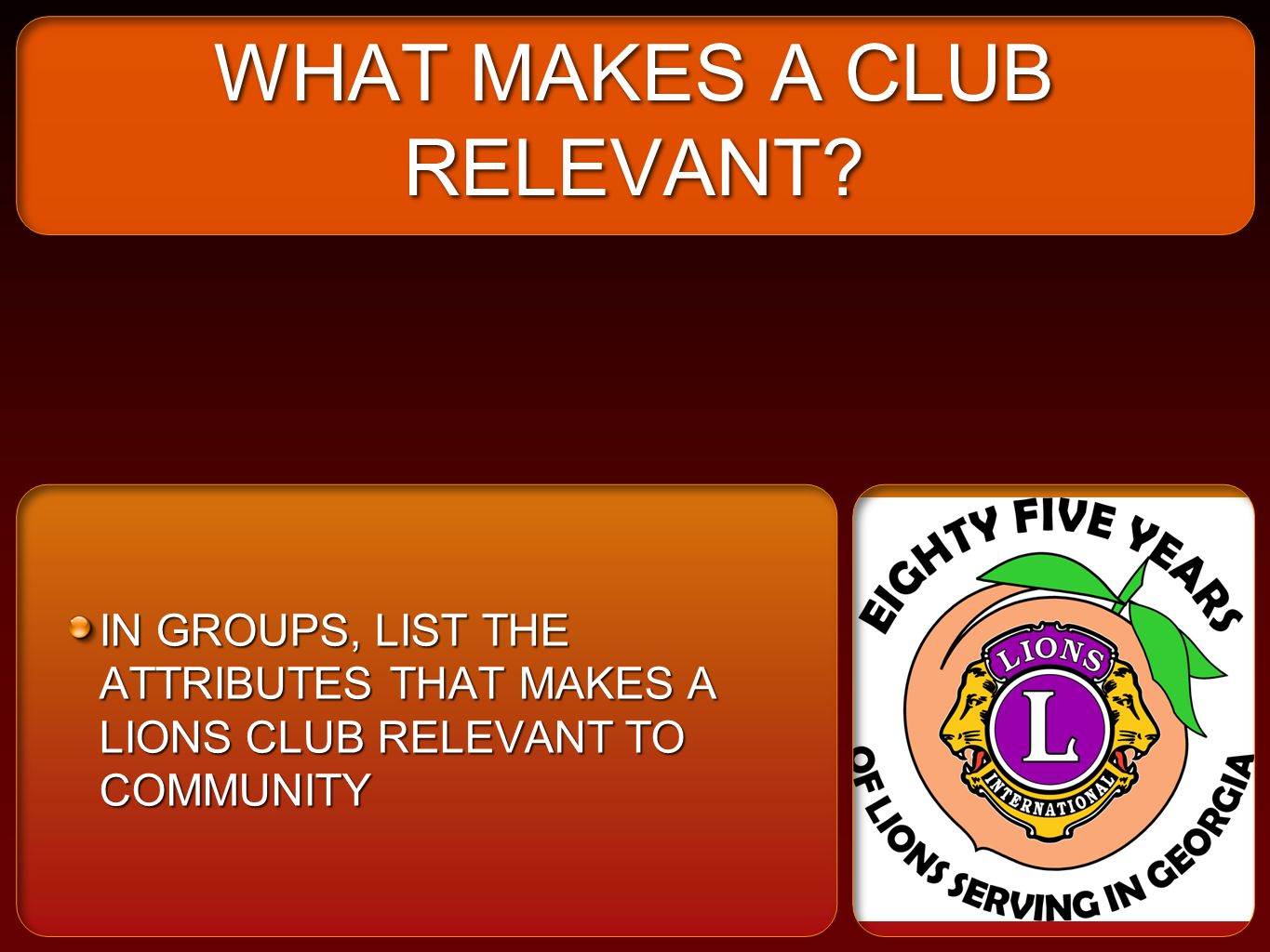 WHAT MAKES A CLUB RELEVANT.