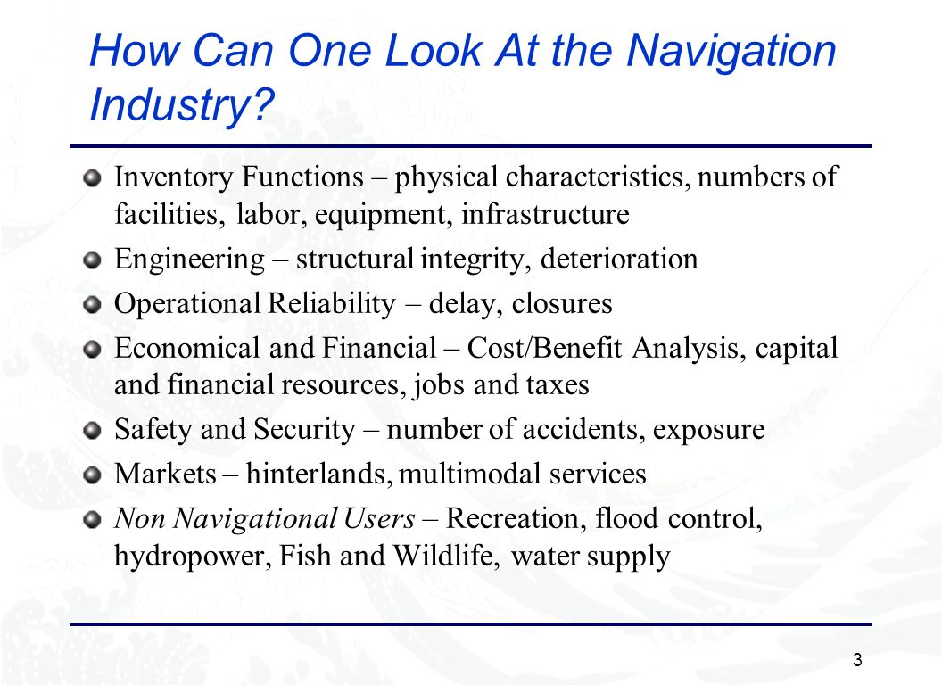 3 How Can One Look At the Navigation Industry.