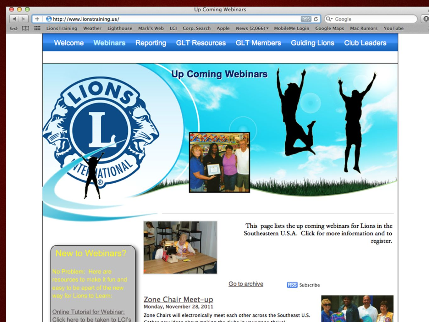 Reporting GLT Activities Share Your Events