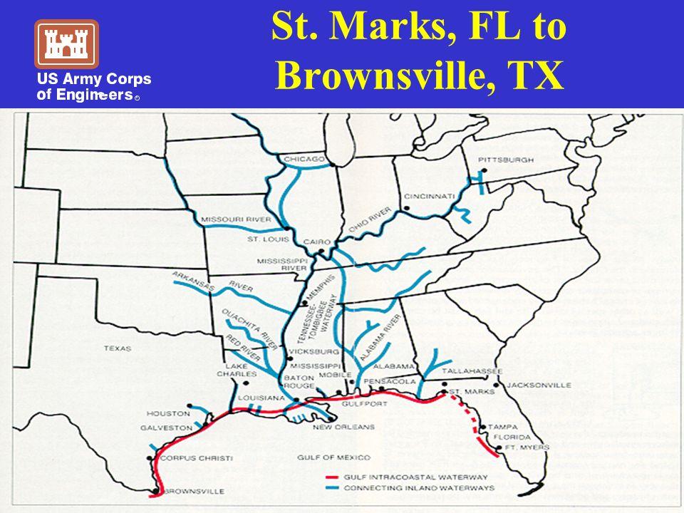 St. Marks, FL to Brownsville, TX