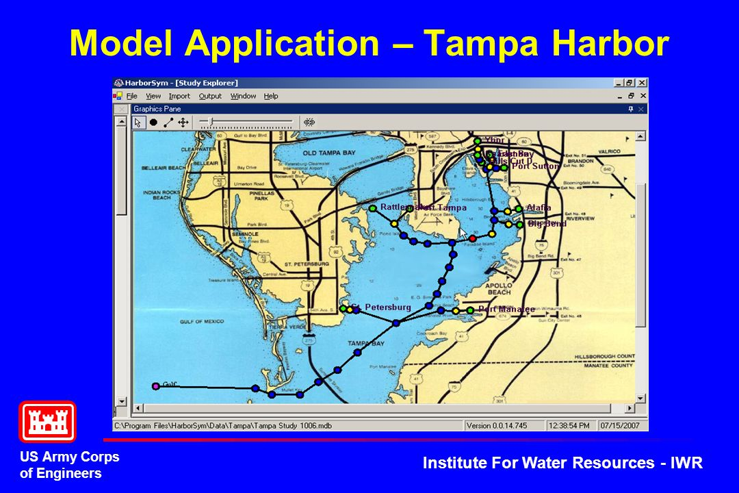 US Army Corps of Engineers Institute For Water Resources - IWR Model Application – Tampa Harbor