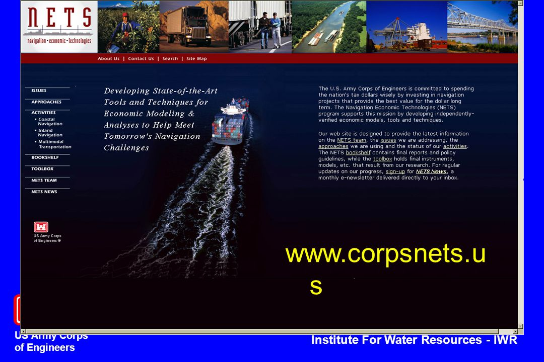 US Army Corps of Engineers Institute For Water Resources - IWR www.corpsnets.u s