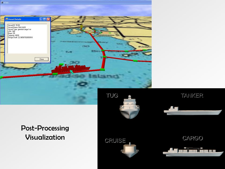 CARGO TUG CRUISE TANKER Post-Processing Visualization