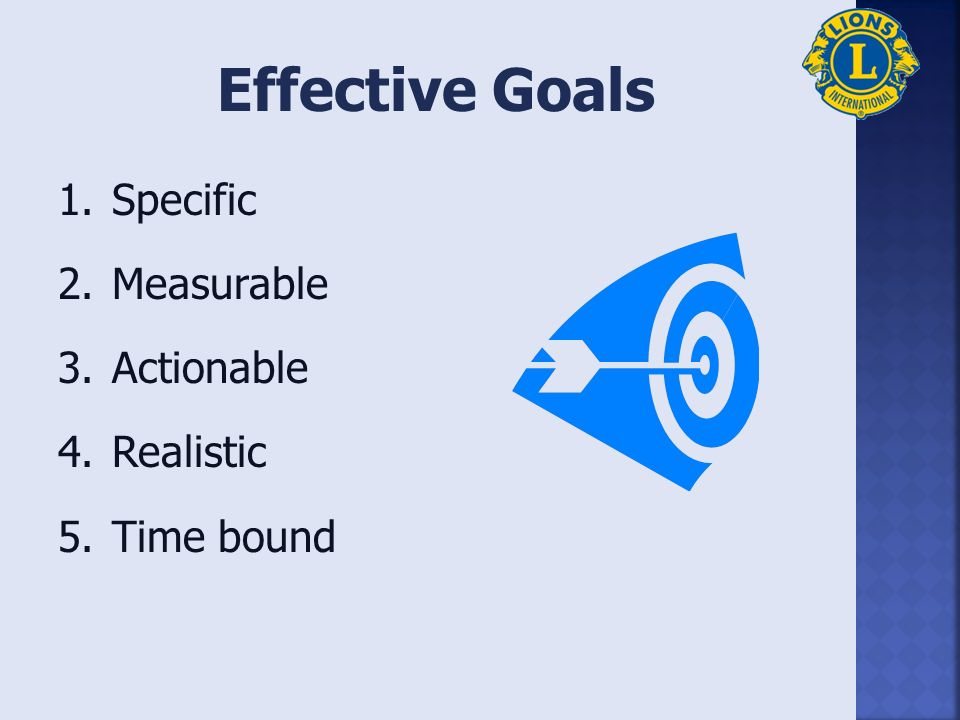 Describe importance of goal setting and action planning Identify characteristics/components of effective goals and action plans Write effective goals