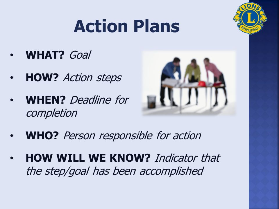 Effective Goals 1.Specific 2.Measurable 3.Actionable 4.Realistic 5.Time bound