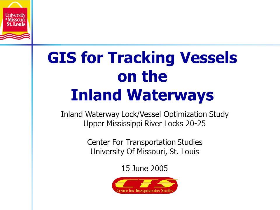 Inland Waterway Lock/Vessel Optimization Study Upper Mississippi River Locks 20-25 Center For Transportation Studies University Of Missouri, St. Louis