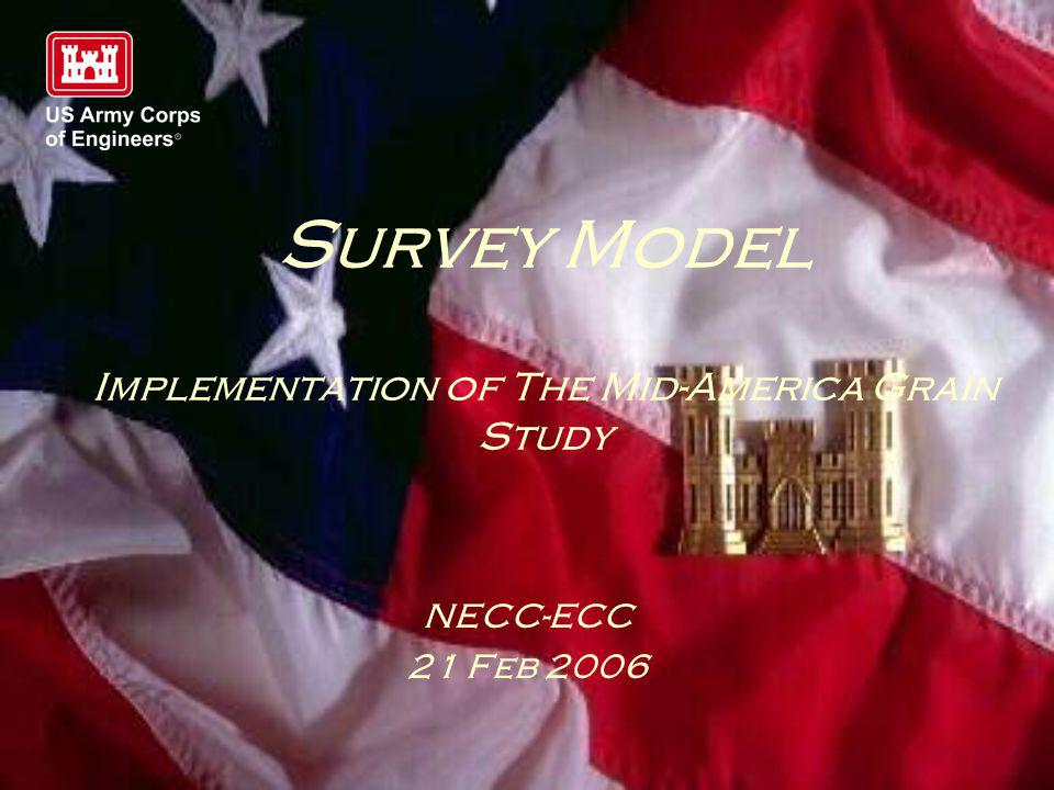 Survey Model Implementation of The Mid-America Grain Study NECC-ECC 21 Feb 2006
