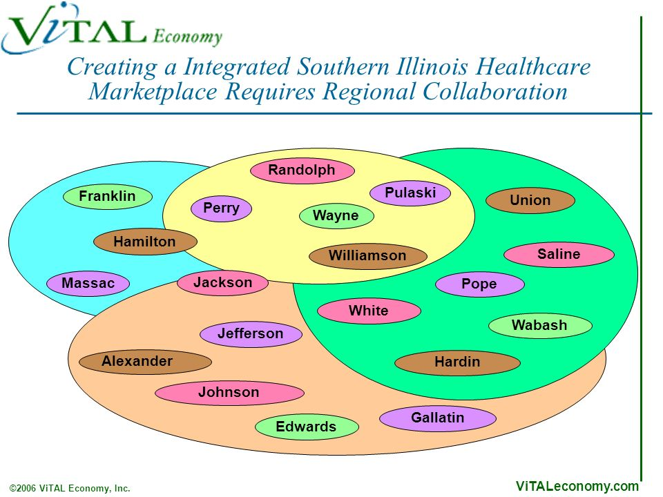 ViTALeconomy.com ©2006 ViTAL Economy, Inc. Creating a Integrated Southern Illinois Healthcare Marketplace Requires Regional Collaboration Union Willia
