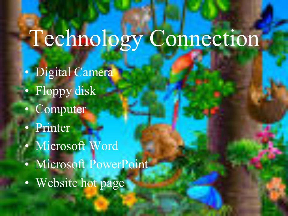 Technology Connection Digital Camera Floppy disk Computer Printer Microsoft Word Microsoft PowerPoint Website hot page