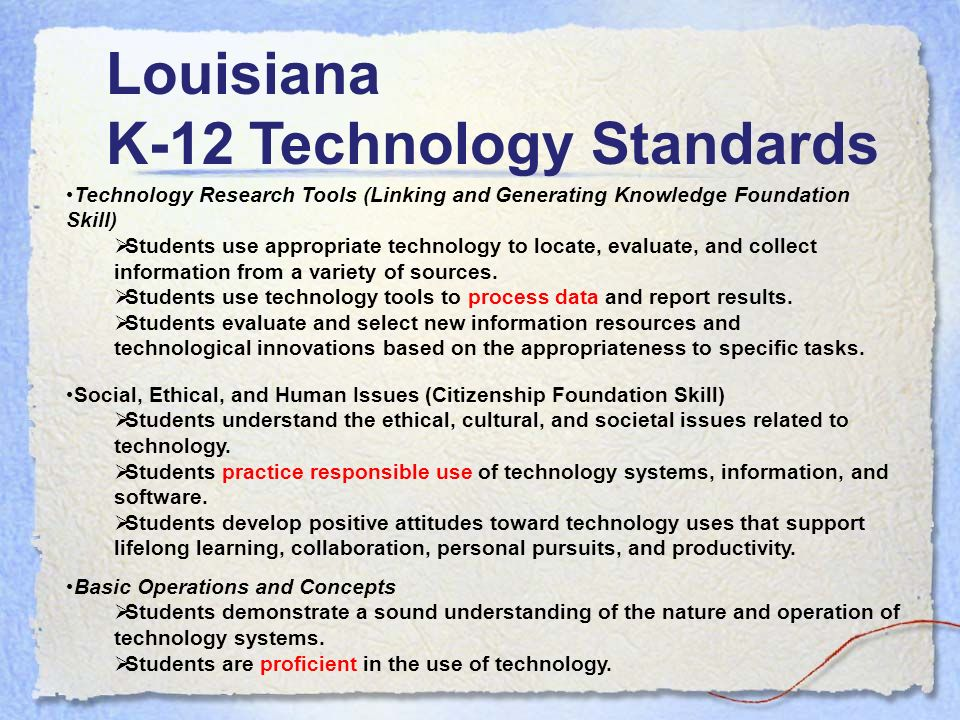 Technology Research Tools (Linking and Generating Knowledge Foundation Skill) Students use appropriate technology to locate, evaluate, and collect information from a variety of sources.