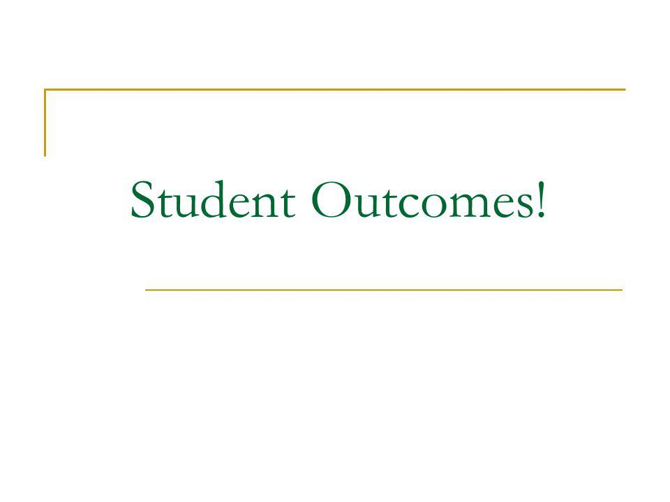 Student Outcomes!