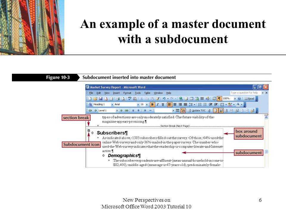 XP New Perspectives on Microsoft Office Word 2003 Tutorial 10 7 Control text flow and page breaks You can insert hard page breaks to control where page breaks occur.